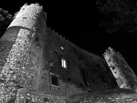 Close up view of the castle in Ciciliano in Italy Stock Photo