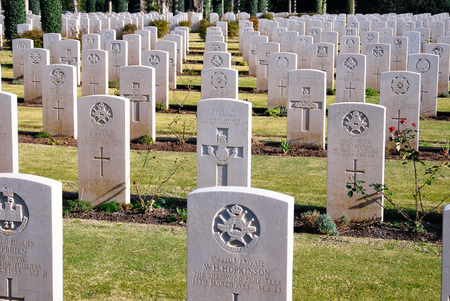 ANZIO  December 30, 2010  Tombs of the British Military Cemetery at Anzio in Italy. Editorial