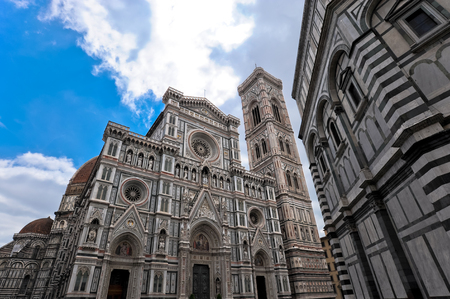 Perspective of Florence Cathedral in Italy Stock Photo