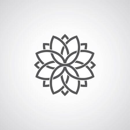Overlapping tulips mandala flower design