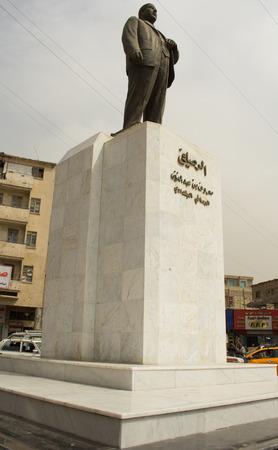iraqi: Statue of Iraqi poet  Maarouf Rusafi Editorial