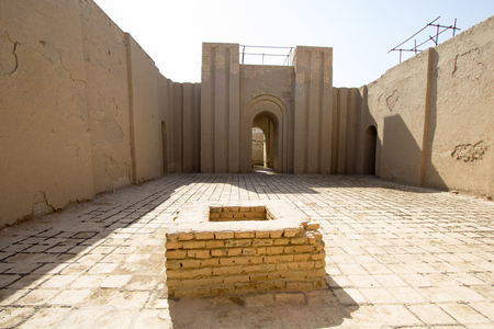 babylon: A picture of the inside of the Temple of ninmakh, The oldest temple in the ancient city of Babylon in Iraq.