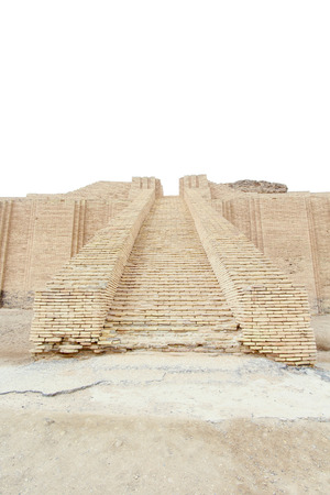 Picture of Ziggurat of Ur   and One of the most important monuments in Iraq and that goes back to the Sumerian period Which are located in the province of Dhi Qar in southern Iraq. photo