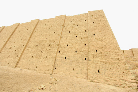 Picture of Ziggurat of Ur   and One of the most important monuments in Iraq and that goes back to the Sumerian period Which are located in the province of Dhi Qar in southern Iraq.