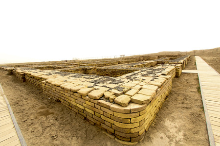 sumerian: Image of the ancient city of Ur, One of the most important monuments in Iraq and that goes back to the Sumerian period which are located in the province of Dhi Qar in southern Iraq.