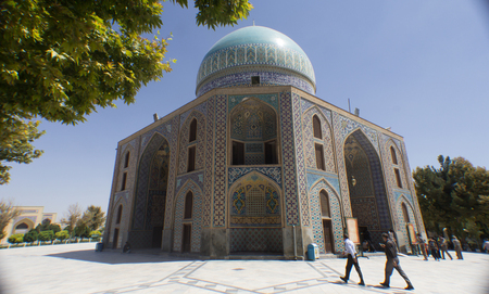 imam: It is the shrine of Khawaja Rpiea one of the owners of Imam Ali ibn Musa Alreza, its  in the form of a ribbed dome surrounded by green gardens and very beautiful trees.