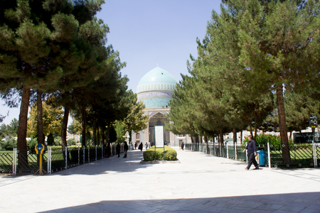 ibn: It is the shrine of Khawaja Rpiea one of the owners of Imam Ali ibn Musa Alreza, its  in the form of a ribbed dome surrounded by green gardens and very beautiful trees.