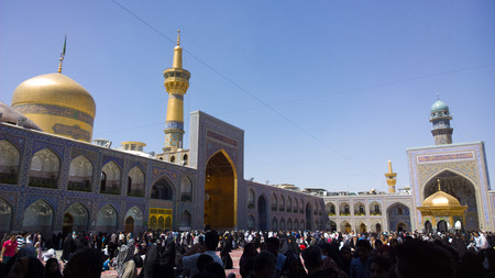 imam: Internal shot of the shrine of Imam Ali al-Rida , It is the shrine of eighth imam to the Shiite sect and is located in the city of Mashhad. And contains a huge golden dome and a number of minarets aureus and the huge doors. Editorial