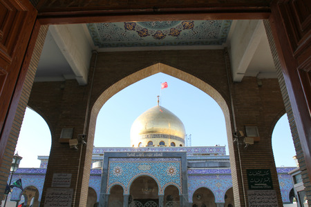 damascus: internal shot for Sayeda Zeinab shrine in Damascus capital of Syria, which showing the shrine with one golden dome.