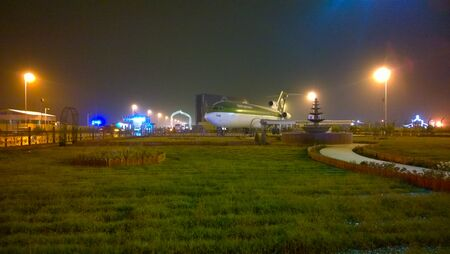 iraqi: One of the Iraqi Airways planes are parked at Abbas Ibn Firnas Square  In front of the Baghdad International Airport.it use as restaurant. Editorial