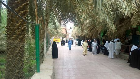 medina: Picture of Imam Hassan orchard in Medina, grove to house and feed the Shiite pilgrims in Medina, It is one of the Shiite sights in Saudi Arabia. Editorial