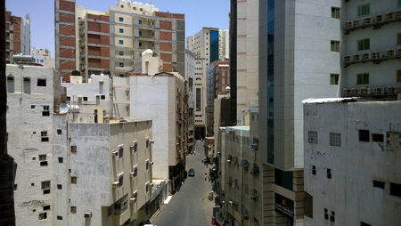 complexes: Picture of the city of Mecca Which show high buildings and residential complexes.