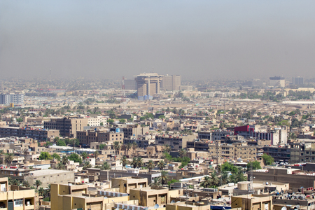 complexes: Aerial photo of the city of Baghdad, and shows where residential complexes. The city of Baghdad, capital of Iraq.