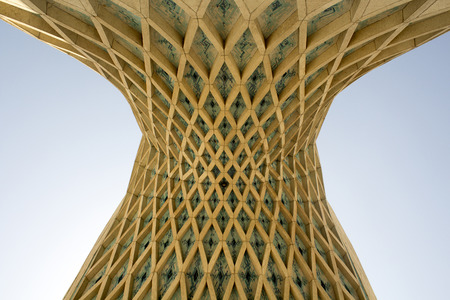 the place is important: Image Azadi Tower in the Iranian capital Tehran, It is the most important monument in Iran and also called Statue of Liberty, It is a place for military reviews and protests in Iran. Editorial