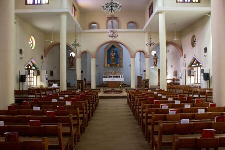 christian community: picture of a church located in the Karrada district of the Iraqi capital Baghdad And frequented by Iraqis Of the Chaldean Catholic Christian community