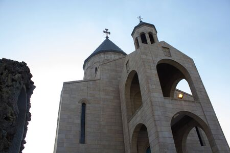frequented: picture of a church located in the Karrada district of the Iraqi capital Baghdad And frequented by Iraqis Of the Armenians Christian community