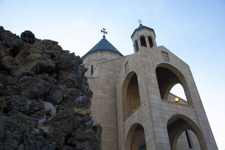 christian community: picture of a church located in the Karrada district of the Iraqi capital Baghdad And frequented by Iraqis Of the Armenians Christian community