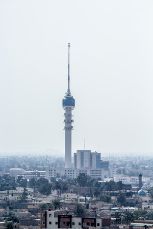 previously: previously called International Saddam Tower is a 205 m TV tower in Baghdad, Iraq. The tower opened in 1994 and replaced a communications tower destroyed in the Gulf War. A revolving restaurant and observation deck Editorial