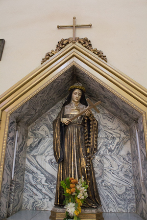 iraqi: Picture of a statue of the Virgin Mary in one of the churches of the Iraqi capital, Baghdad.