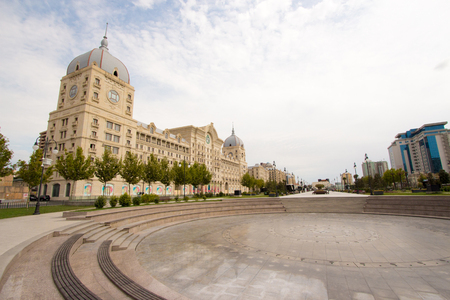 picture for Metro Building in Baku in Azerbaijan, its Characterized by a distinct architectural style and the Clock Tower.