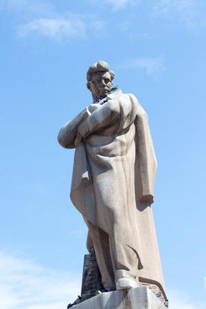 screenwriter: statue of the poet Jafar Jabbarli Statue in Baku in Azerbaijan, was an Azerbaijani playwright, poet, director and screenwriter.