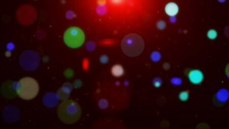 Abstract colorful glowing lights blurred particles footage Imagens