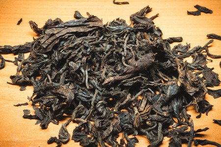 dialect: This Ceylon black tea in dried form on the table