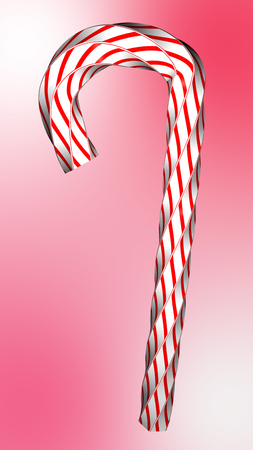 Red white swirled candy on isolate background.