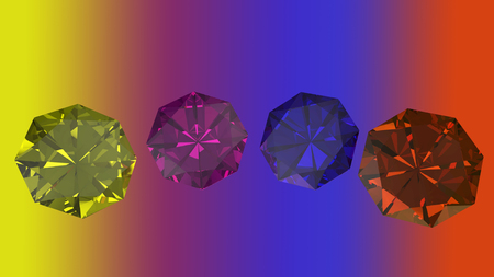 edelstenen: Gemstones of various form and color background