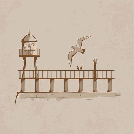 waterway: Old lighthouse Illustration