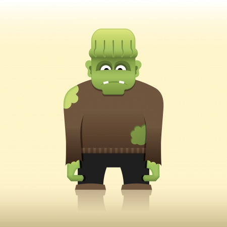 Cartoon Frankenstein monster Vector
