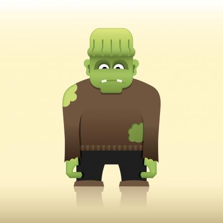 clipart frankenstein: Cartoon Frankenstein monster
