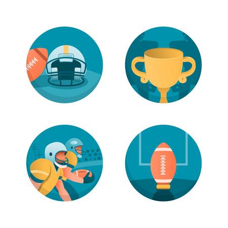 American football theme illustrations