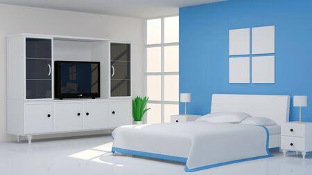 Modern Bedroom Interior photo