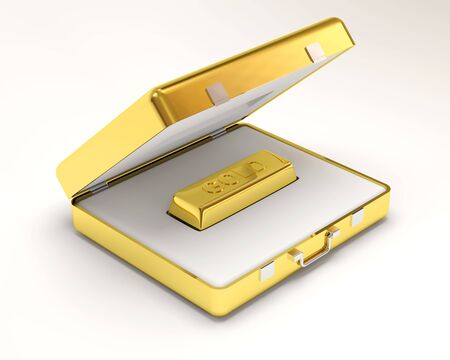 Golden Bar inside Gold Case Stock Photo - 12210820