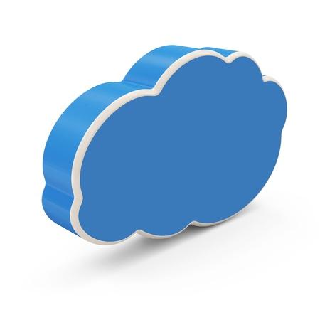 Cloud Computing Symbol on white background photo