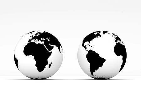 Stylish Globe on white background photo