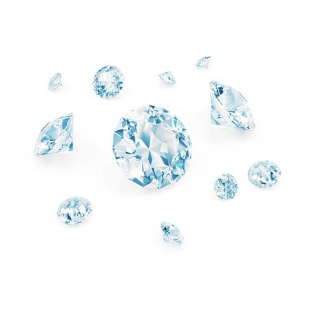 unbreakable: Blue Diamonds isolated on white background