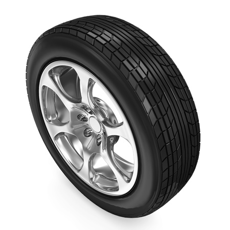 Car Wheel isolated on white background Stock Photo - 20055169
