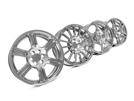 Car Alloy Rims isolated on white background photo