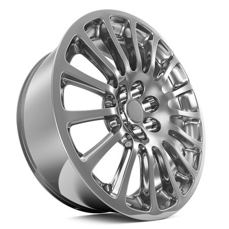 Car Alloy Rim isolated on white background photo