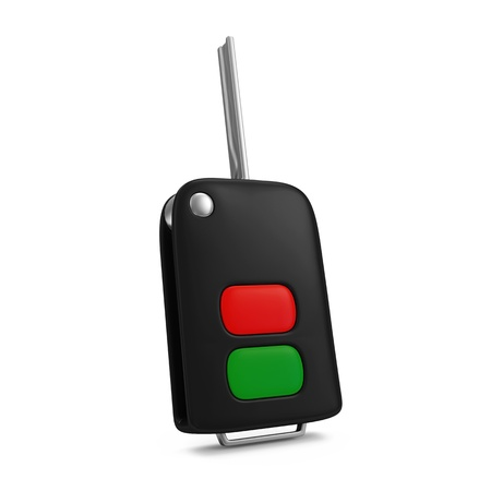 Car Key isolated on white background photo