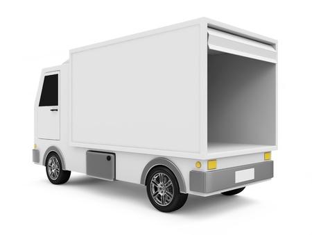 Wit Bestelwagen op een witte achtergrond