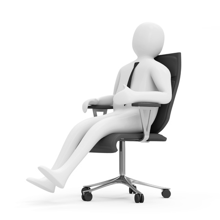 people sleeping: 3d Man Siting in a Chair