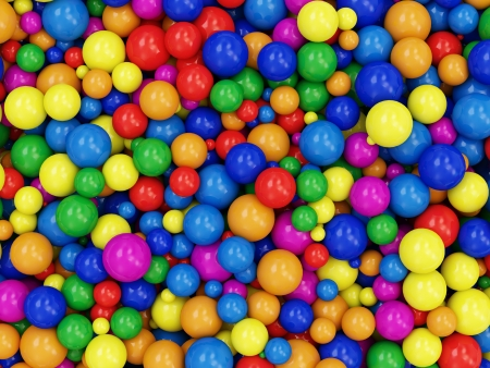 Heap of Colorful Balls Abstract Background photo