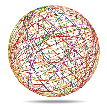 esfera: Colorido Esfera abstracta en el fondo blanco Foto de archivo