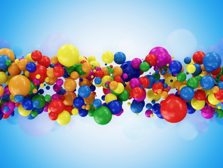 Abstract Illustration of Colorful Balls on blue background illustration
