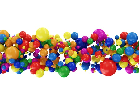 Abstract Illustration of Colorful Balls isolated on white background illustration