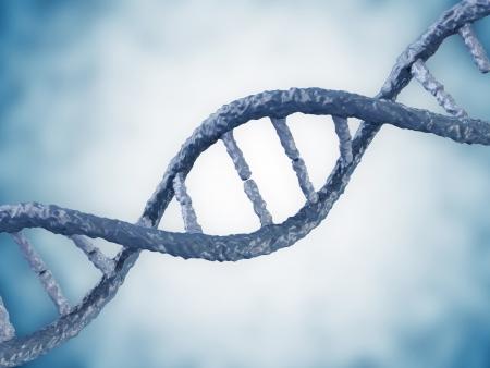 genom: Digital illustration of a DNA on blue background