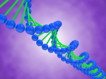 Digital illustration of a DNA Stock Illustration - 20082126